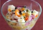 Ceviche de peixe-branco com geleia de pimenta-verde