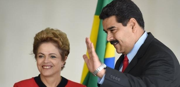 Maduro e Dilma em julho de 2015