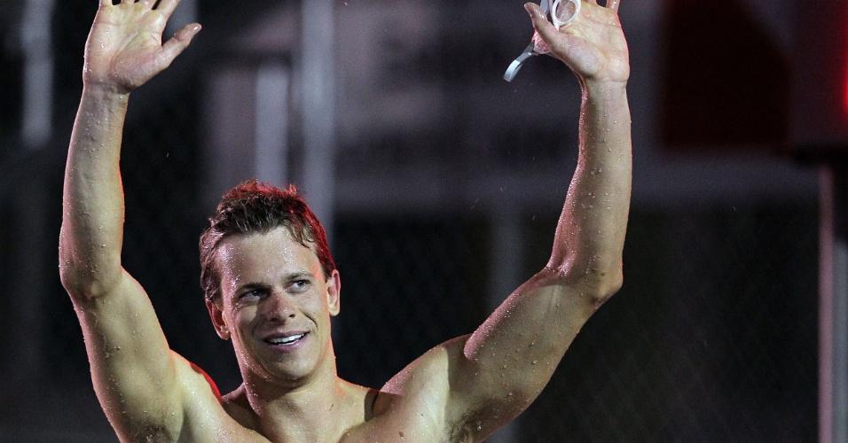 Cesar Cielo vence os 100m livre do Sul-Americano de Esportes Aquáticos