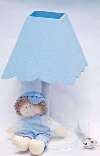 Abajur azul vendido na Feira da Gestante, do Bebê e da Criança (21/3/2012)