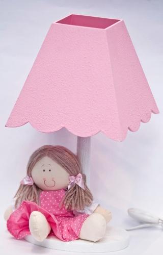 Abajur cor-de-rosa vendido na Feira da Gestante, do Bebê e da Criança (21/3/2012)