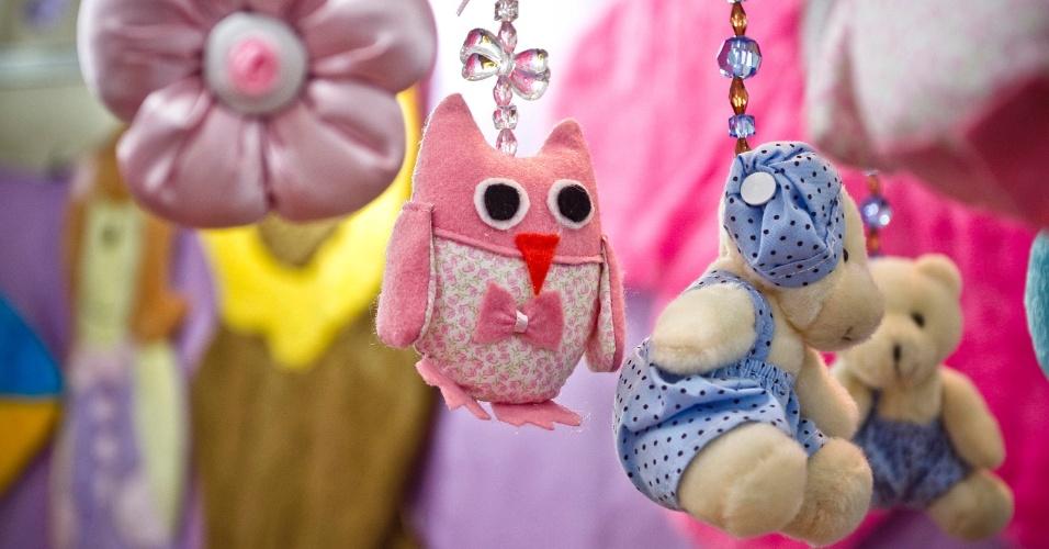 Diferentes móbiles à venda na Feira do Bebê, Gestante e Criança 2012