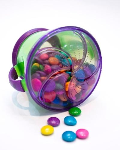 pote para biscoitos da Linea Baby à venda na Feira do Bebê, Gestante e Criança (20/3/2012)