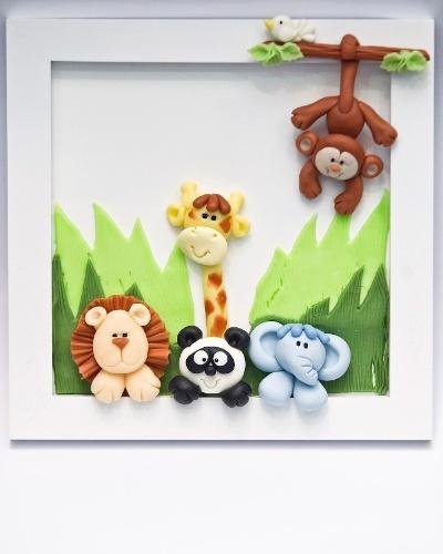 Quadrinho para quarto de bebê apresentado na Feira da Gestante, do Bebê e da Criança (21/3/2012)