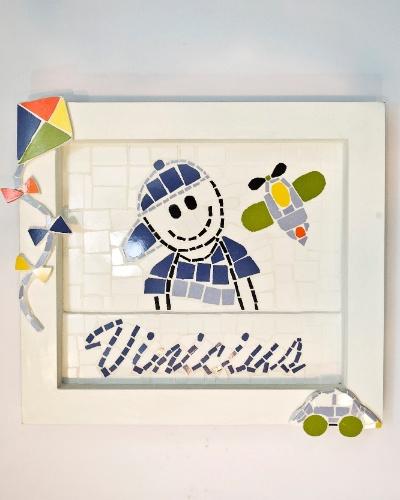 Quadro de mosaico vendido na Feira da Gestante, do Bebê e da Criança (21/3/2012)
