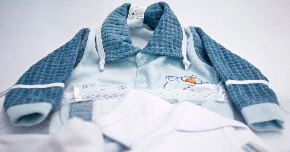 Roupa de bebê da Mimi Baby à venda na Feira do Bebê, Gestante e Criança (20/3/2012)