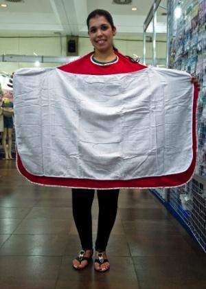 toalha-avental da D'Bella for Baby à venda na Feira do Bebê, Gestante e Criança (20/3/2012)