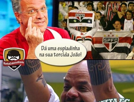 Corneta FC: Torcida do São Paulo na torcida por João Carvalho