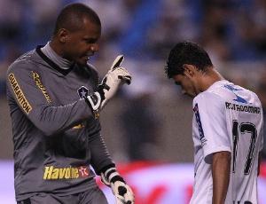 O goleiro Jefferson, do Botafogo, também cobrou respeito de Léo Rocha após a cavadinha