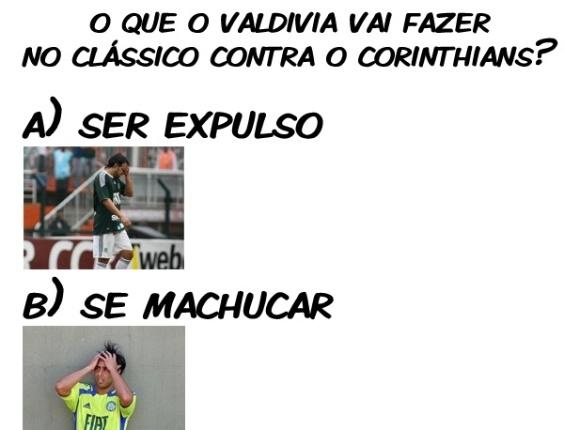 Corneta FC: O que o Valdivia vai fazer no clássico contra o Corinthians?