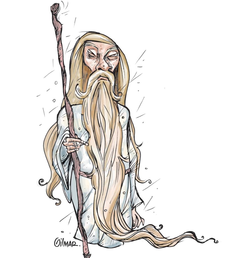 Gilmar relembrou o personagem Profeta. A exposição estará em cartaz no Risadaria, a partir deste sábado (24)