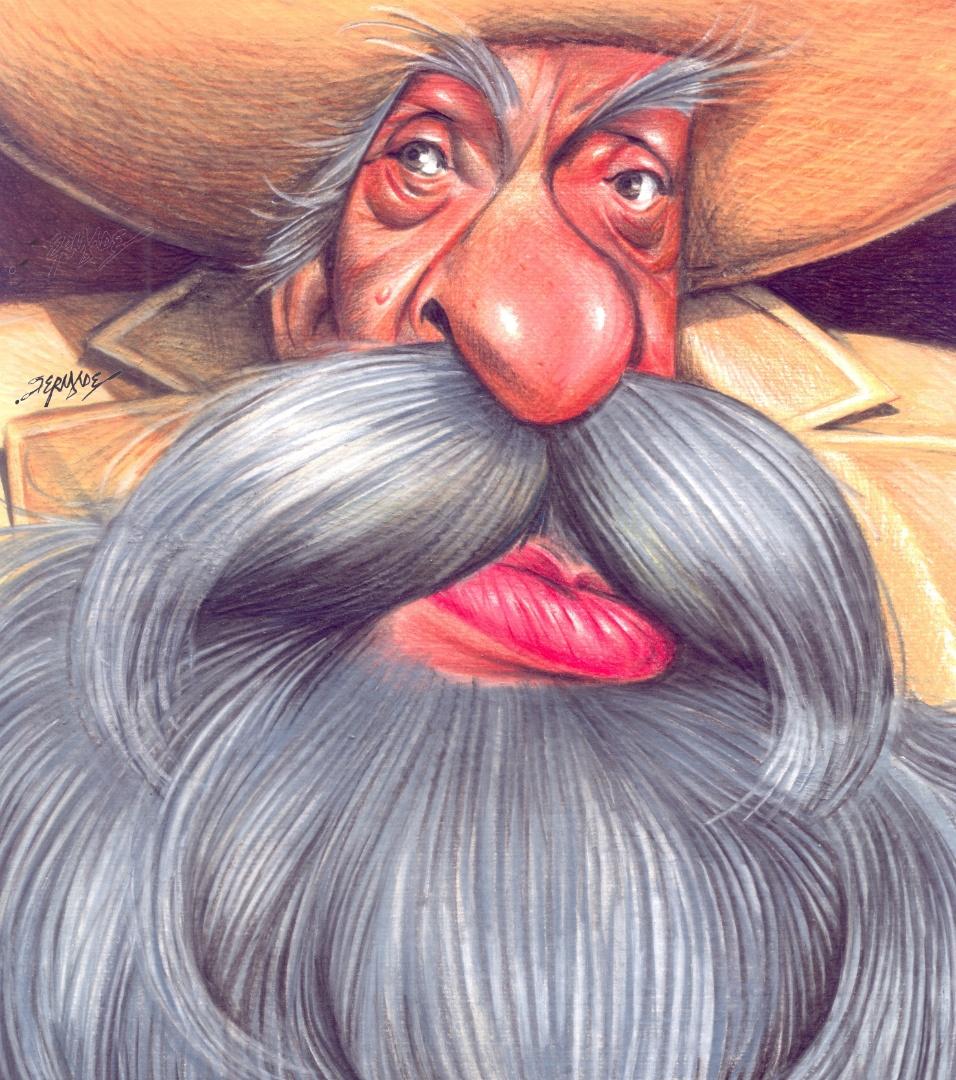 O desenhista Fernandes relembrou o personagem Coronel Limoeiro. A exposição estará em cartaz no Risadaria, a partir deste sábado (24)