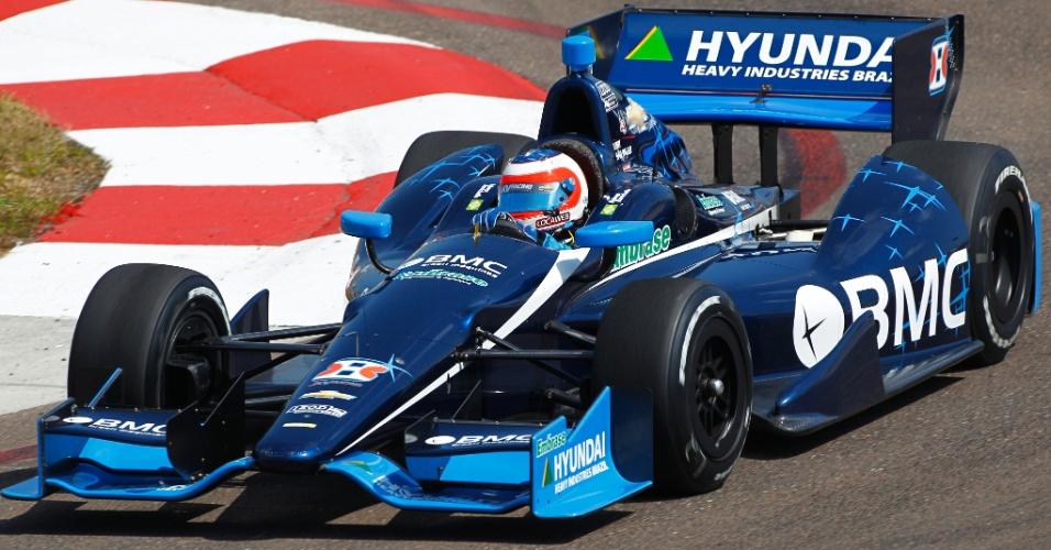 Barrichello foi favorecido pela punição de um rival e ganhou uma posição, para largar em 13º