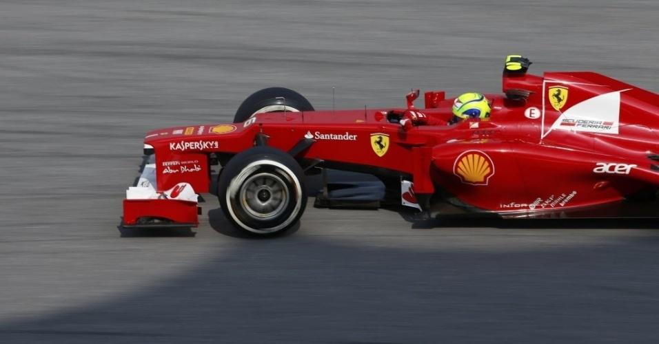 Felipe Massa acelera no treino de classificação em Sepang; brasileiro ficou em 12º