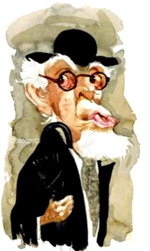 O ilustrador Carcamo fez uma caricatura do velhote Seu Popó, que vivia implicando com seu companheiro Albamerindo (Jomba) e com suas enfermeiras.