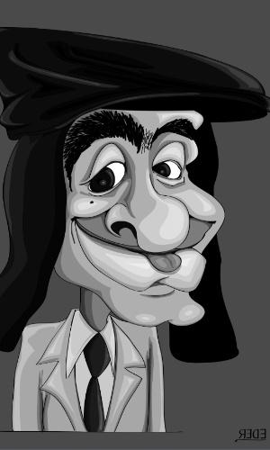 Personagem Linguinha nos traços do caricaturista Éder Santos
