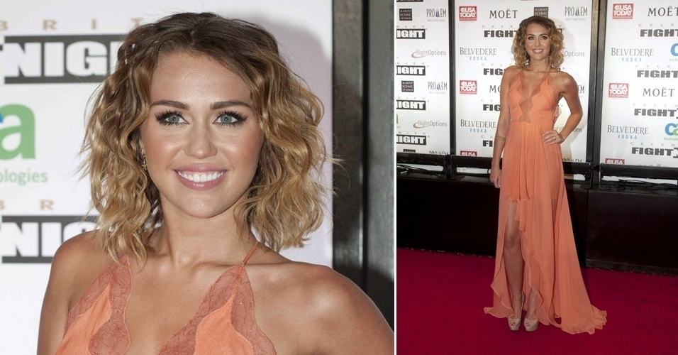 Atriz e cantora Miley Cyrus compareceu ao evento que combate o mal de Parkinson; Muhammad Ali recebeu estrelas como Tom Hanks e Billy Cristal em uma noitada de shows