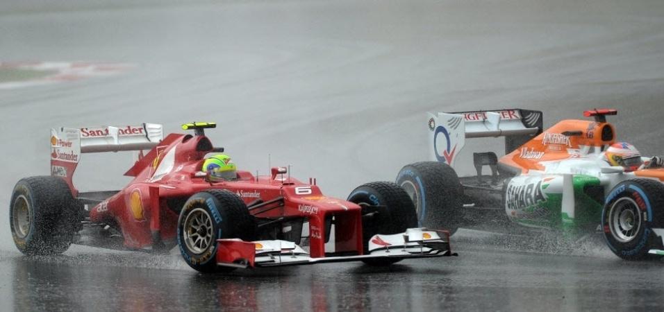 Felipe Massa teve dificuldades para tirar velocidade do carro no pelotão intermediário e amargou uma 15ª colocação