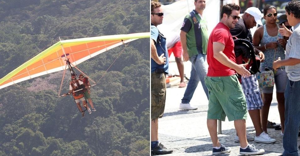 Murilo Benício voa de asa-delta em São Corrado, no Rio de Janeiro (25/3/2012)