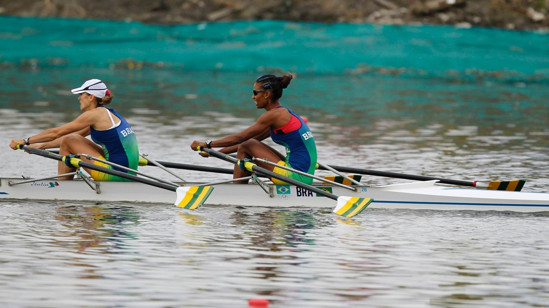 Fabiana Beltrame e Luana Bartholo asseguraram vaga no skiff duplo leve na Olimpíada de Londres
