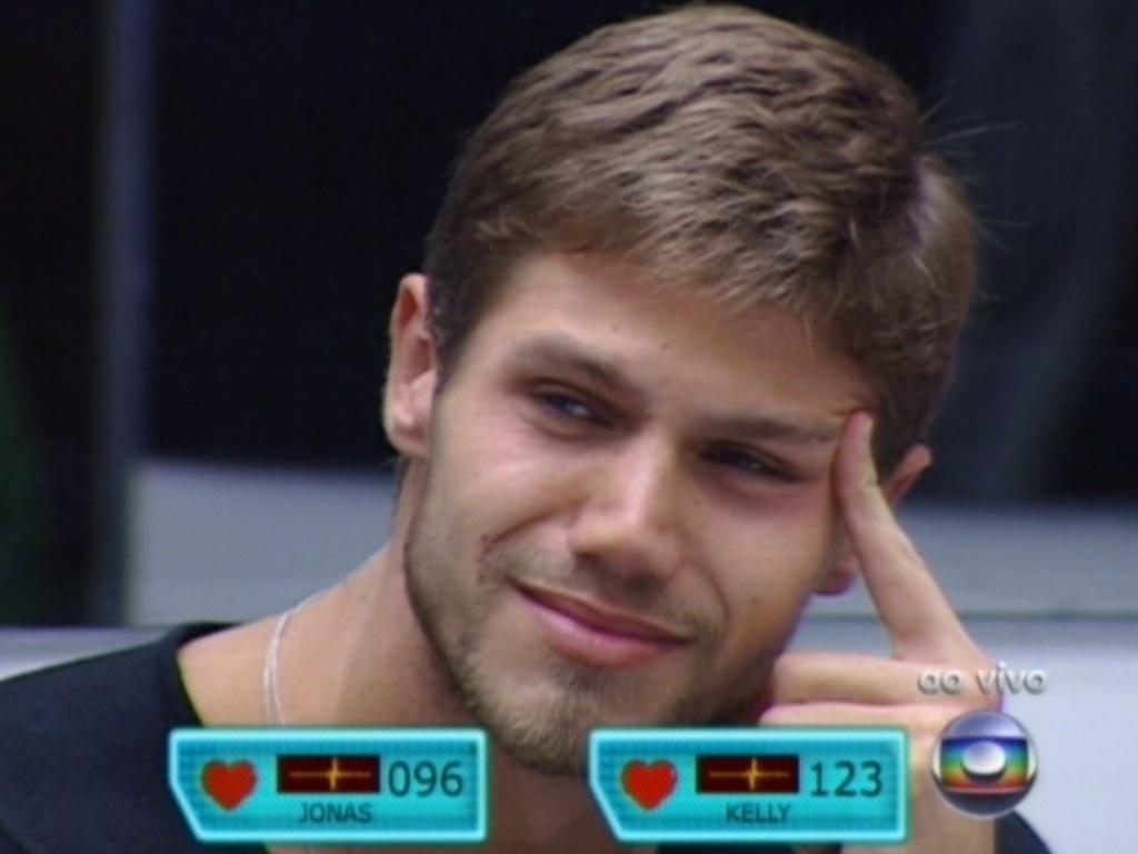 Jonas chora enquanto ouve discurso de Bial (25/3/12)