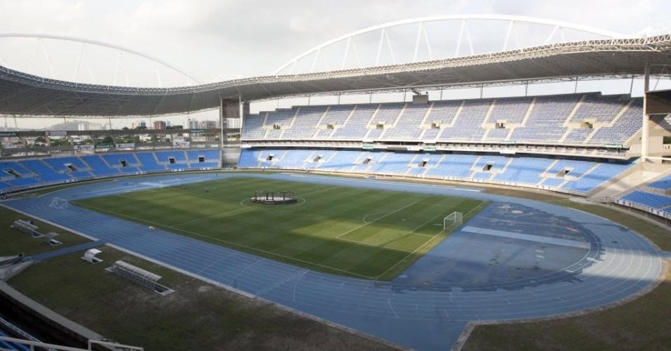 Confira a projeção de como ficará o estádio do Engenhão para o UFC 147, em junho