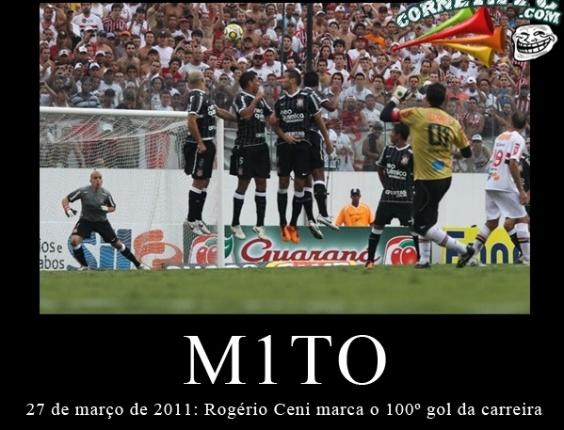 Corneta FC: Há um ano, em cima do Corinthians, Ceni fazia o centésimo gol da carreira