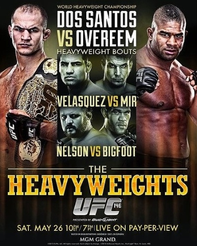 Pôster do UFC 146, com Cigano e Overeem