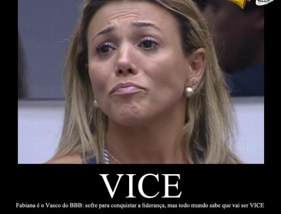 Corneta FC: Fabiana é o Vasco do BBB