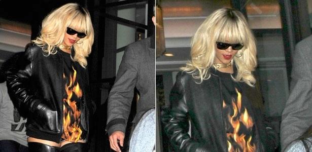 Rihanna usa metrô para ir a show (27/3/12)