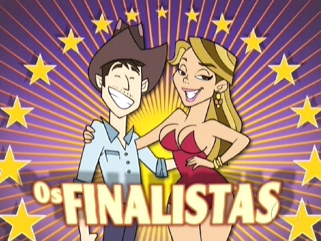 Animação mostra a passagem de Fael e Fabiana no reality (29/3/12)