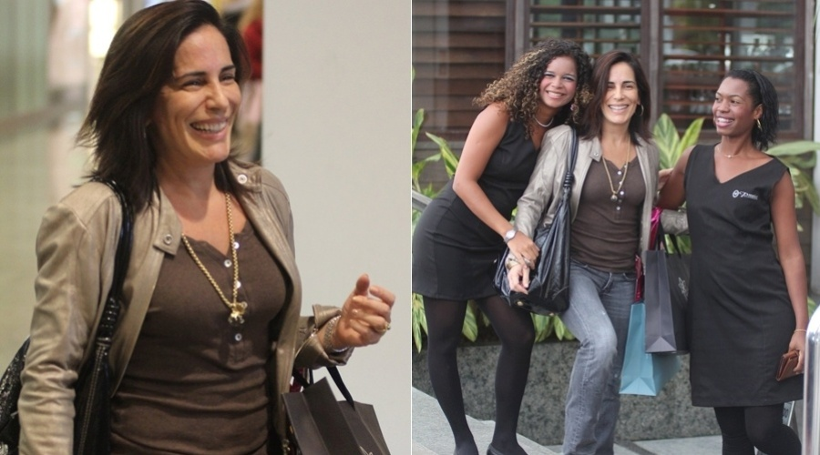 Gloria Pires passeia em shopping da zona oeste do Rio (29/3/2012)