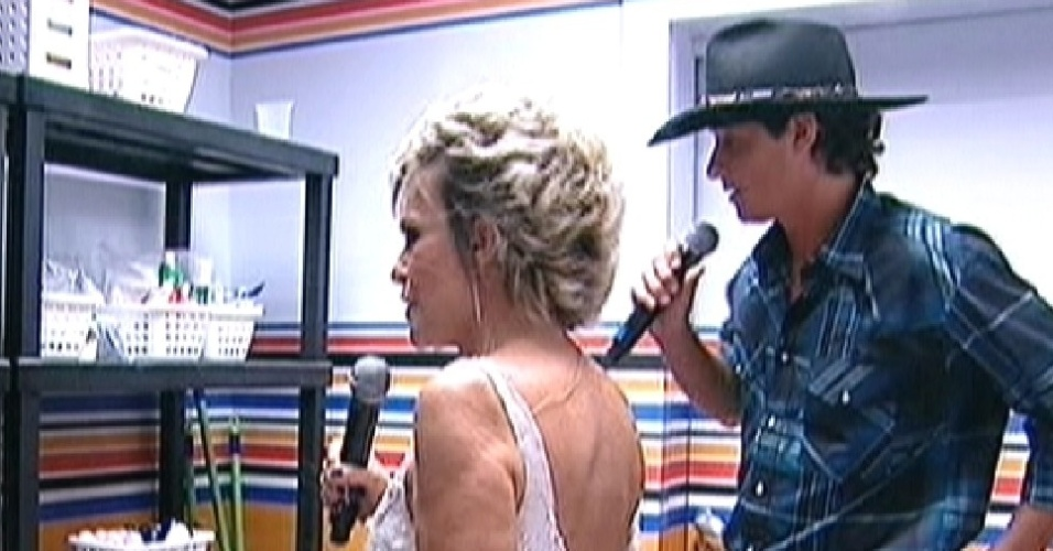 "Ana analisa o que sobrou na despensa da casa do ""BBB12"" (30/3/12)"