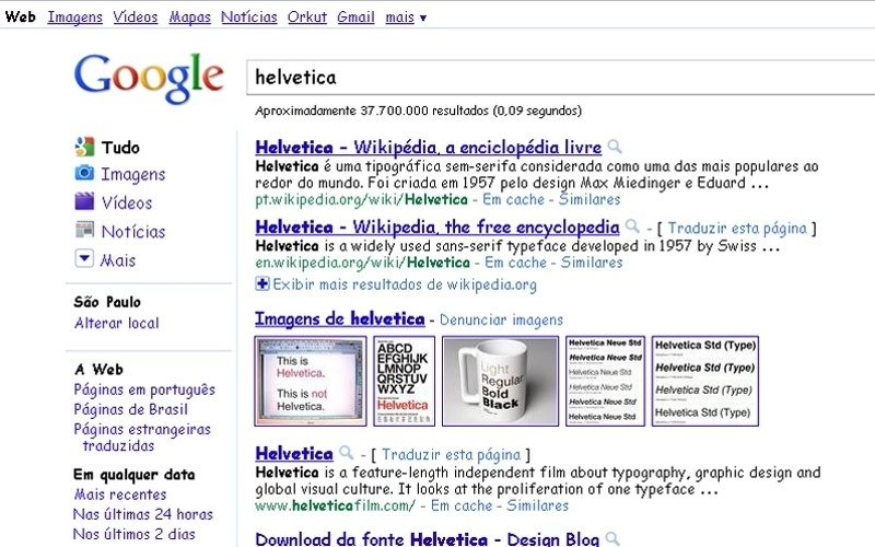 Brincadeira de 1º de abril do Google mudava a fonte do site