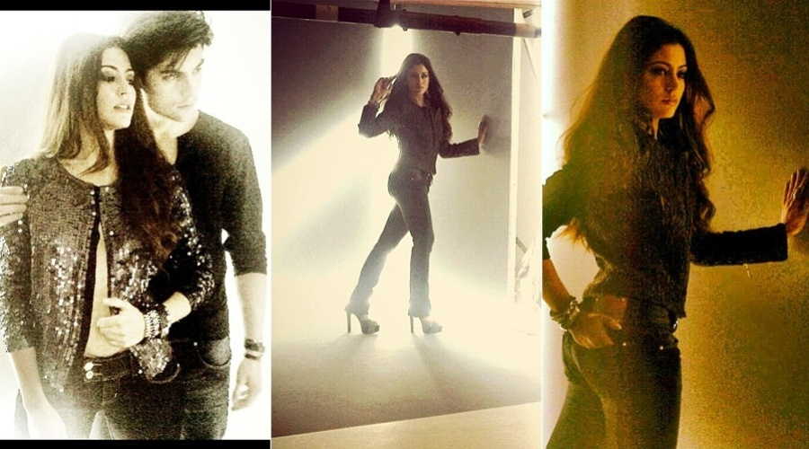 Carol Castro posa para campanha de marca de jeans (30/3/2012)