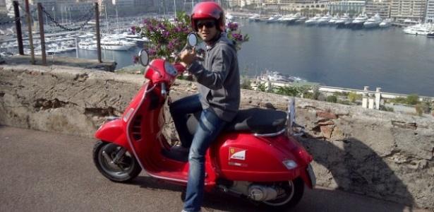 Felipe Massa publica no Twitter foto mostrando a paisagem de Mônaco durante passeio de moto