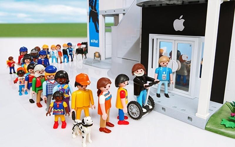 Playmobil apresentado durante brincadeira de 1º de abril