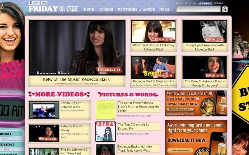 Site Funny or Die faz brincadeira no dia da mentira com a cantora Rebecca Black