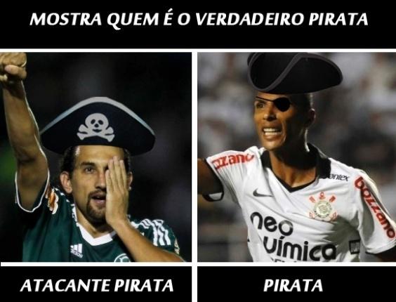 Corneta FC: No dia da mentira, Liedson mostra quem é o verdadeiro pirata