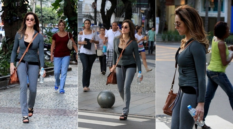 Christiane Torloni caminha pelo Leblon, zona sul do Rio (3/4/2012)