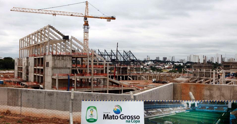 Construção da Arena Pantanal, em Cuiabá, no Mato Grosso (28/03/2012)