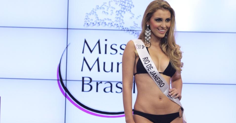 Miss Mundo Rio de Janeiro, Mariana Notarangelo. Candidatas a Miss Mundo Brasil 2012 desfilam de biquini durante o concurso, em Porto Alegre