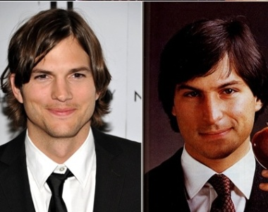 Montagem de Steve Jobs com Ashton Kutcher, que irá interpretar o cofundador da Apple no cinema