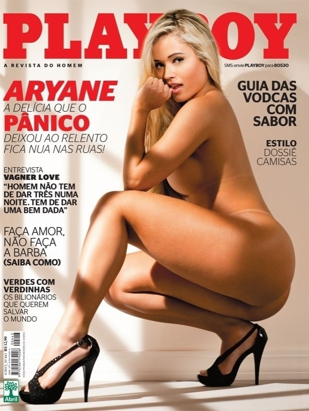 Aryane Steinkopf &#233; capa da &#34;Playboy&#34; de abril