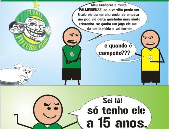 Corneta FC: Cachorro de palmeirense nunca viu o time ser campeão