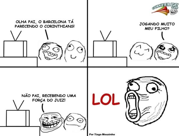 Corneta FC: Sobra para o Corinthians até quando a piada é com o Barça
