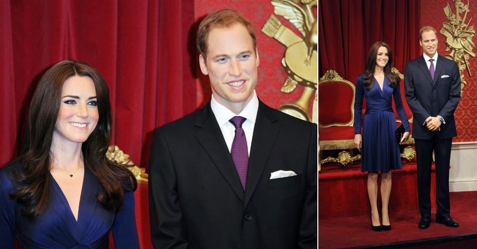 Kate Middleton e príncipe William ganham estátuas de cera no Madame Tussauds, em Londres (4/4/12)
