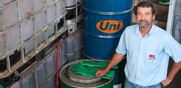 O empresário pernambucano Luiz Cláudio Lima, 51, desenvolveu uma resina antiferrugem para automóveis a base de óleo vegetal usado, coletado em restaurantes, hospitais e hotéis