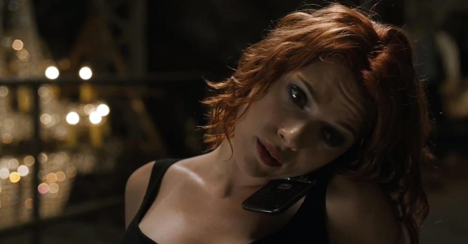 Scarlett Johansson como Viúva Negra no primeiro clipe de