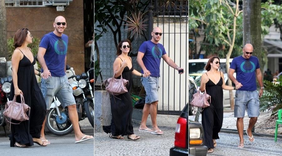 Nalbert e Amandha Lee passeiam pelo bairro do Leblon, zona sul do Rio (5/4/2012)